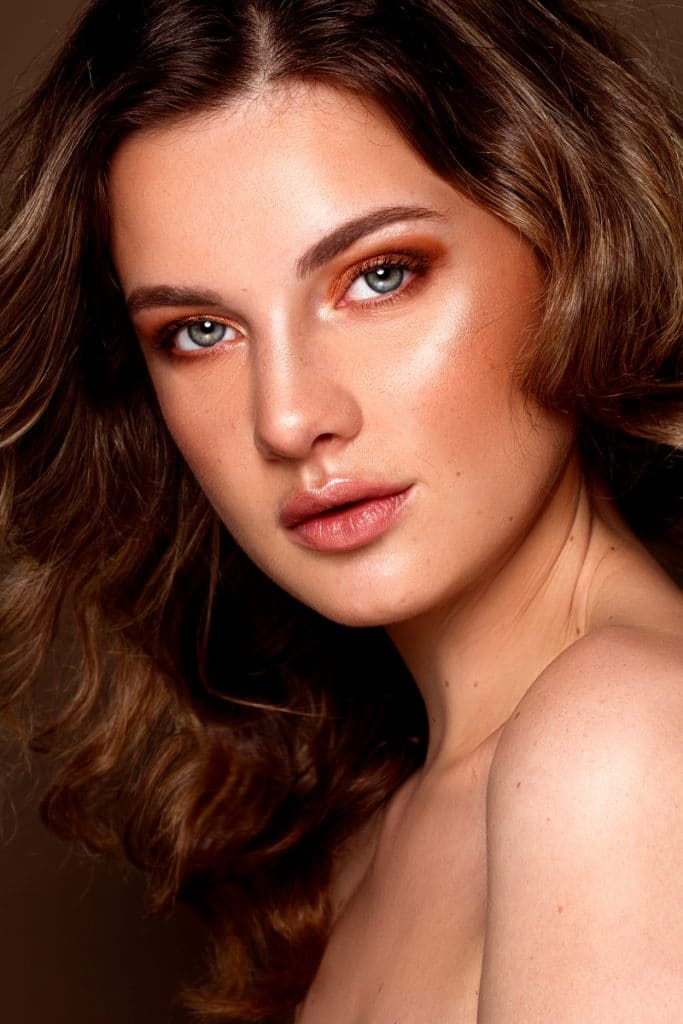 makeup kerstlook Celine Visagie